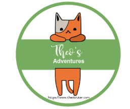 Logo for Theo's Adventures © copyright